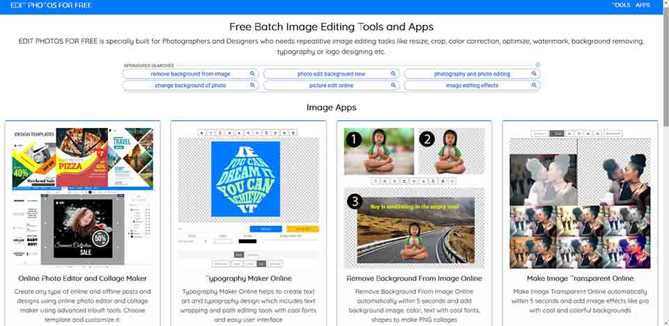 remove background online tools_edit photos for free