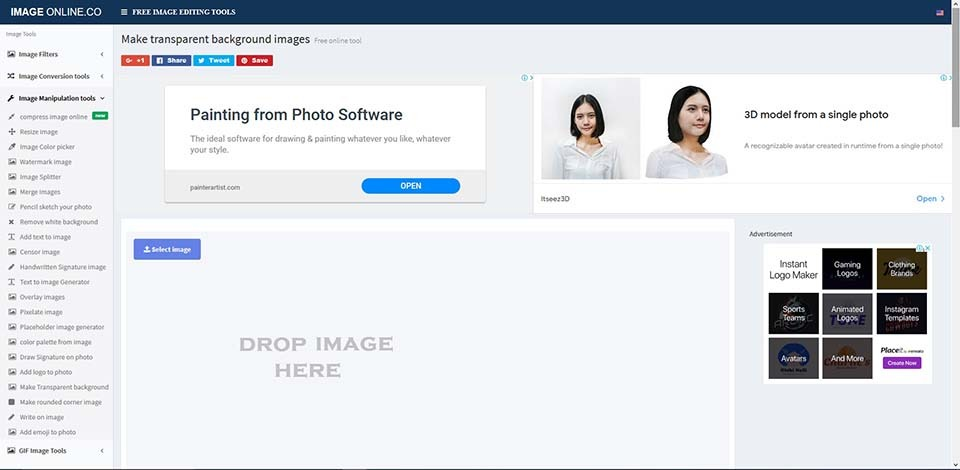 remove background online tools_image online co