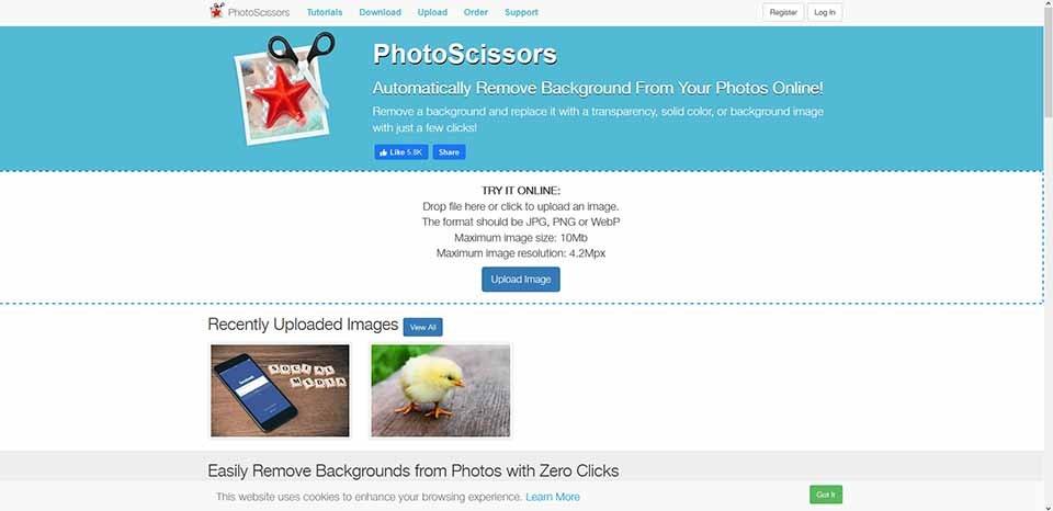 remove background online tools_photo scissors