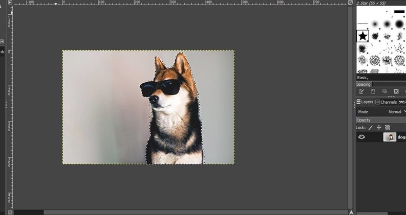 use gimp to remove background