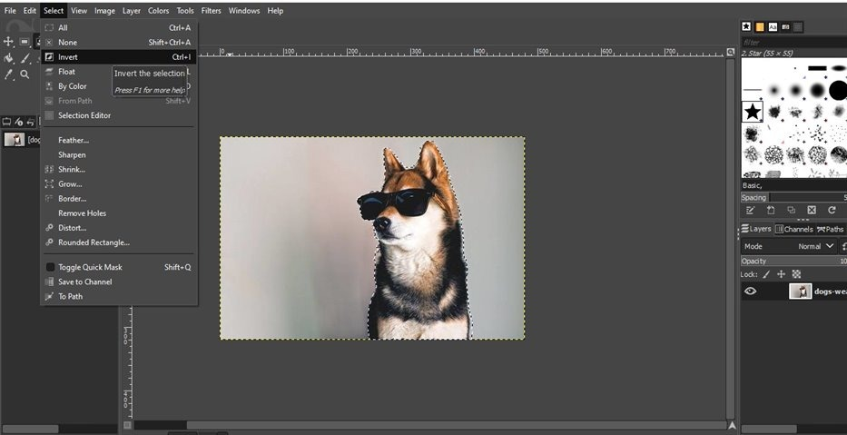 how to use gimp to remove background