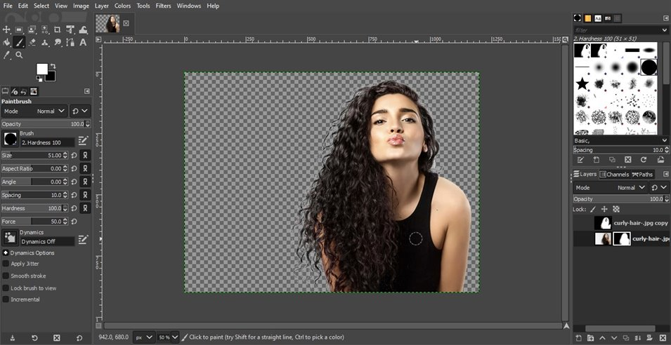 remove background from image in gimp