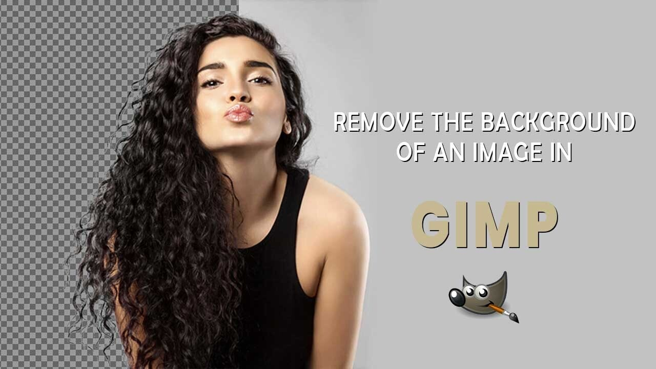 how to remove background in gimp