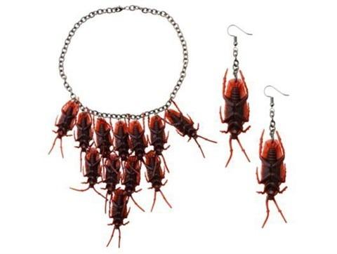 cockroach jewelry set