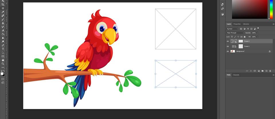 how to crop a single layer in photoshop