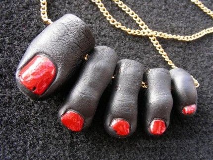 human toe necklace