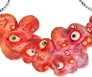 octopus eyes necklace