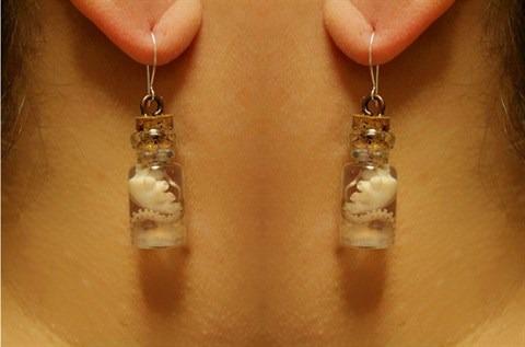 octopus in a bottle earring