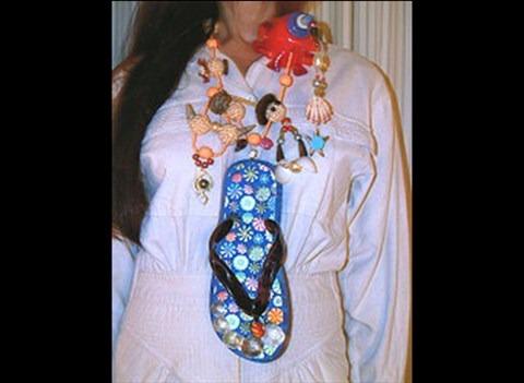 slipper necklace